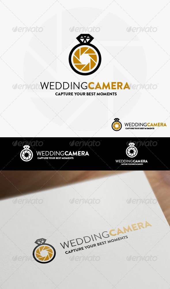 Wedding Camera   Logo Template #camera #diamond #wed • Download ➝…