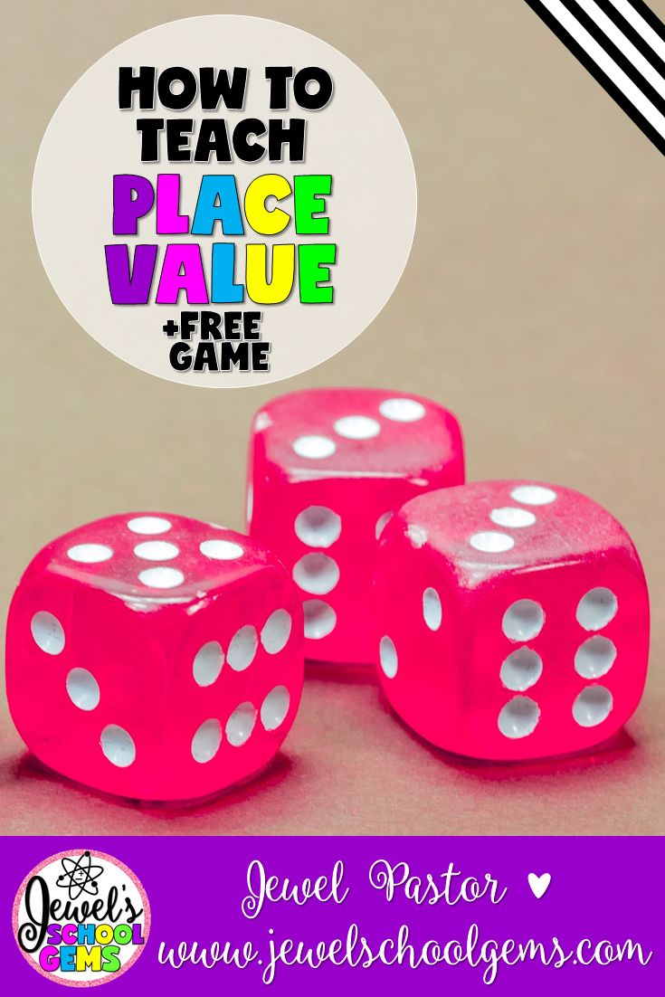 Place Value | How to Teach Place Value by Jewel Pastor of Jewel's School Gems | Are you looking for ways on how to teach place value? Well, you came to the right place. Read about various ways. Grab a FREE place value game, too!