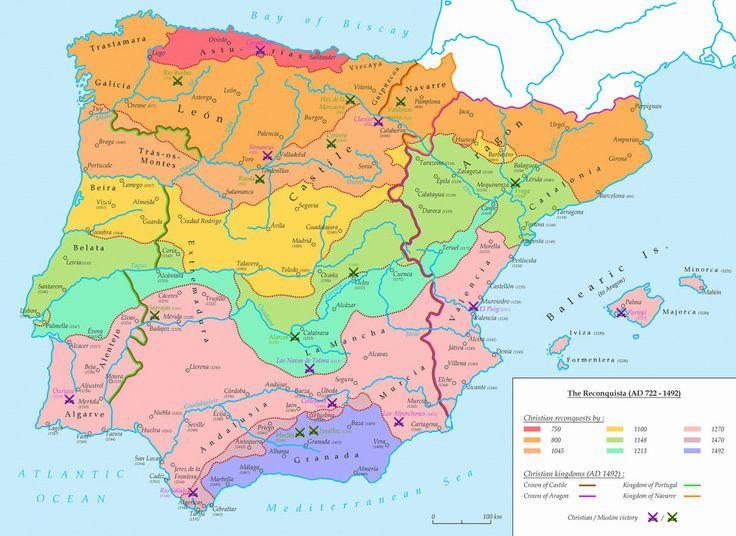 reconquista mapas - Cerca con Google