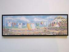 Beach Theme Clothesline laundry room tropical spa style wall decor sign ocean