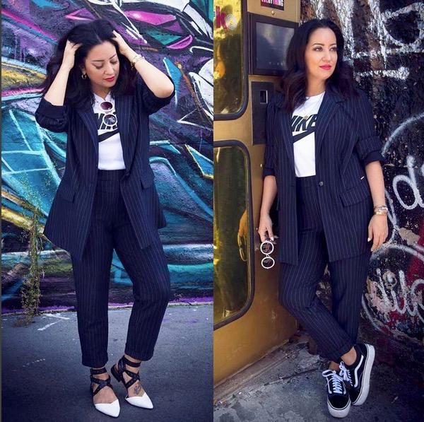 Looks für Kurvige: Vom Faltenrock bis zum Nadelstreifen-Blazer: Mit diesen Outfits fürs Büro in großen Größen bist du perfekt gestylt.