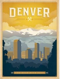 vintage Denver, Colorado travel poster!