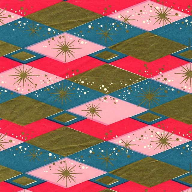 Mid-Century Christmas Paper - Atomic by ElectroSpark, via Flickr