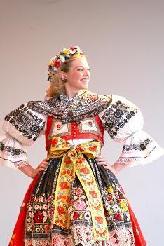 """!Kyjov"""" folk costume (South Moravia), Czechia"""