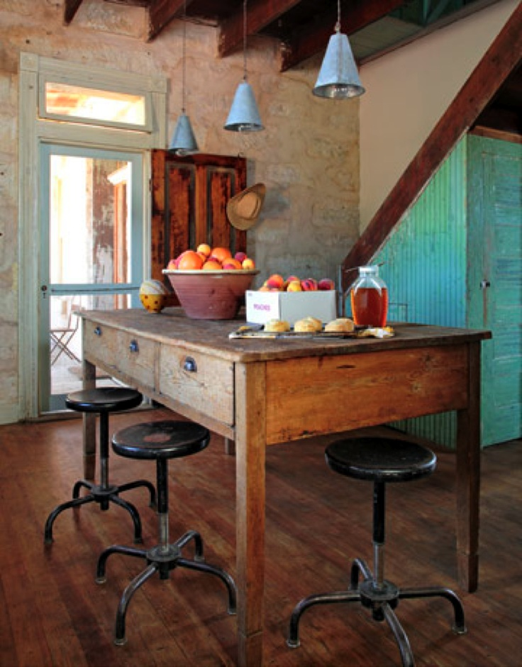 Beautiful farmtable island kitchen islandtable pinterest