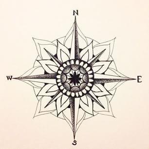 Resultado de imagen de mandala compass