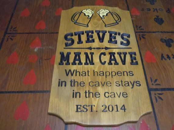 Man Cave Plaques Signs : Vintage man cave sign shed garage dad father s day gift