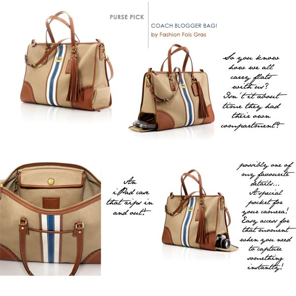 Coach Foie Gras Tote - I usually dislike coach bags, but this looks like a great travel bag ( and it isn't covered in C's)