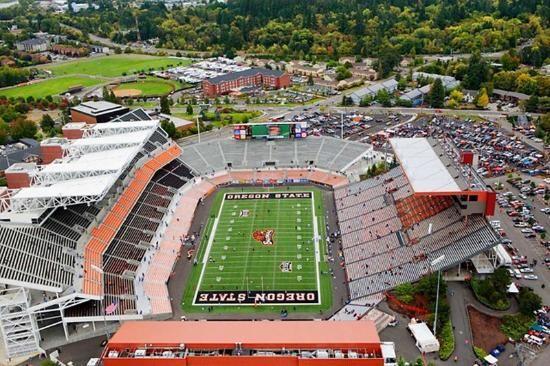 Corvallis, OR: Aerial View of Reser Stadium
