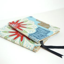 Learn how to sew and bind your own fabric notebook. Perfect for party favors and gifts, and a great way to use up fabric scraps!