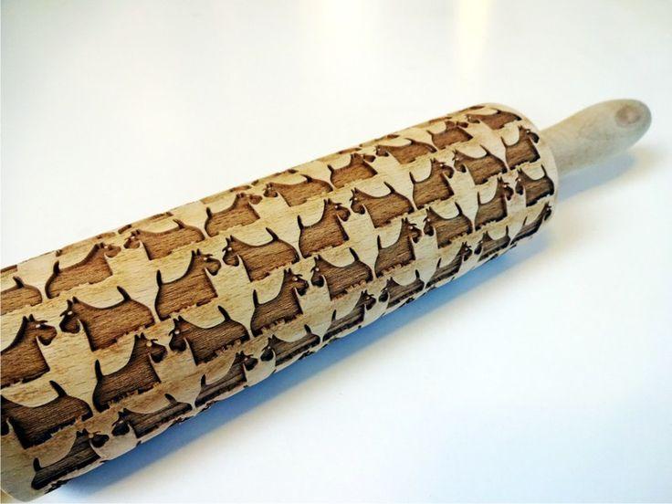 Backformen - Nudelholz mit Terrier für hausgemachtes Gebäck - ein Designerstück von MeisterAlgis bei DaWanda