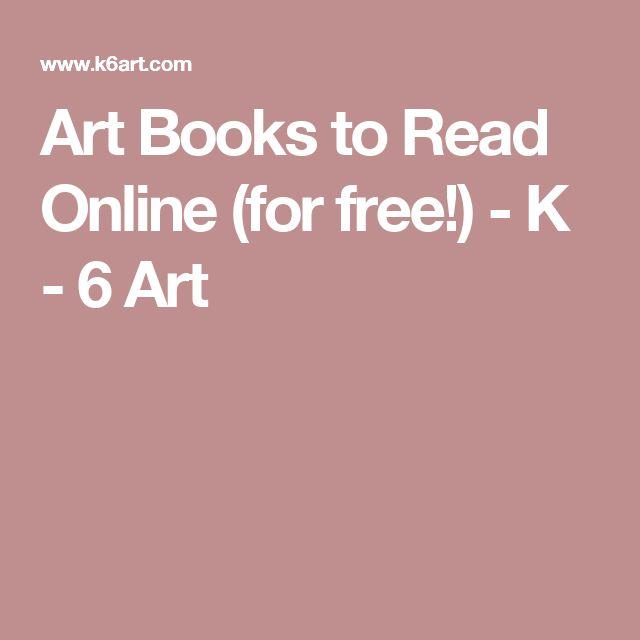 Art Books to Read Online (for free!) - K - 6 Art