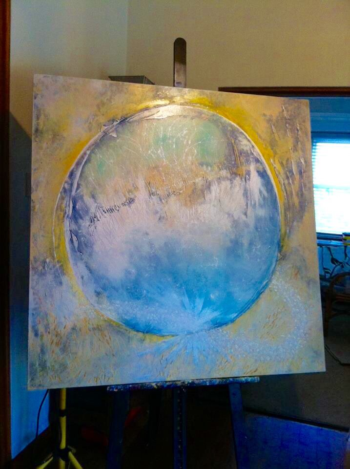 """Adrian's World"". Painted in Turramurra Sanctuary, Sydney, 2011. #wendymanzo #propheticart #worshipart"