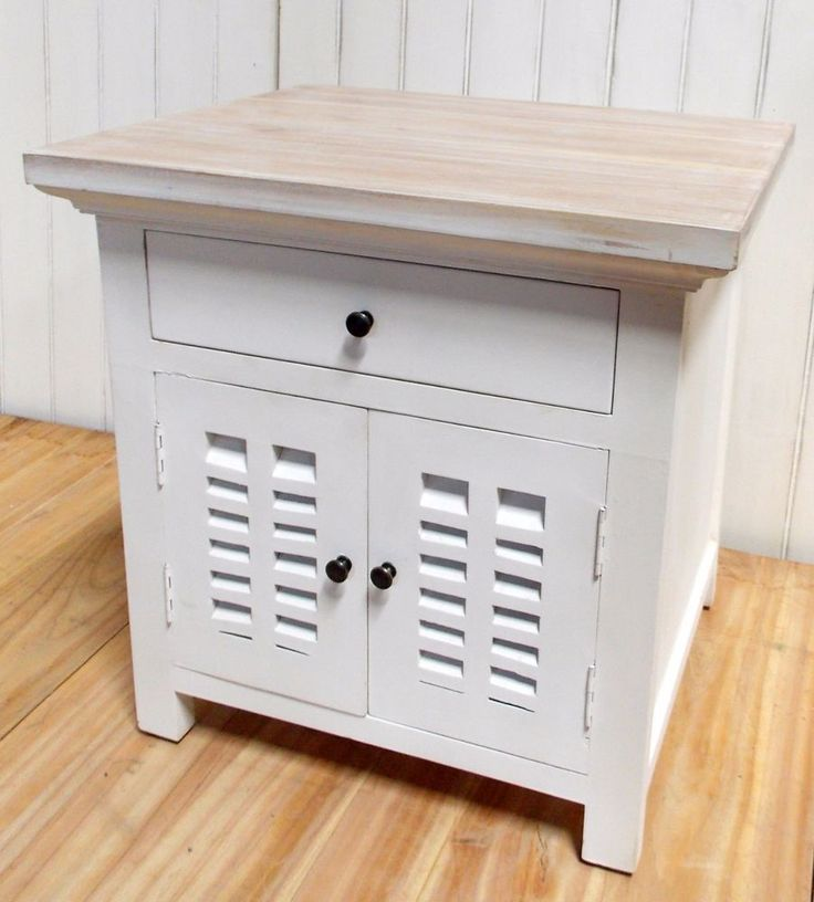 Cedarwood  White Timber French Provincial hamptons bedside table