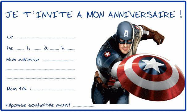 captain america invitations