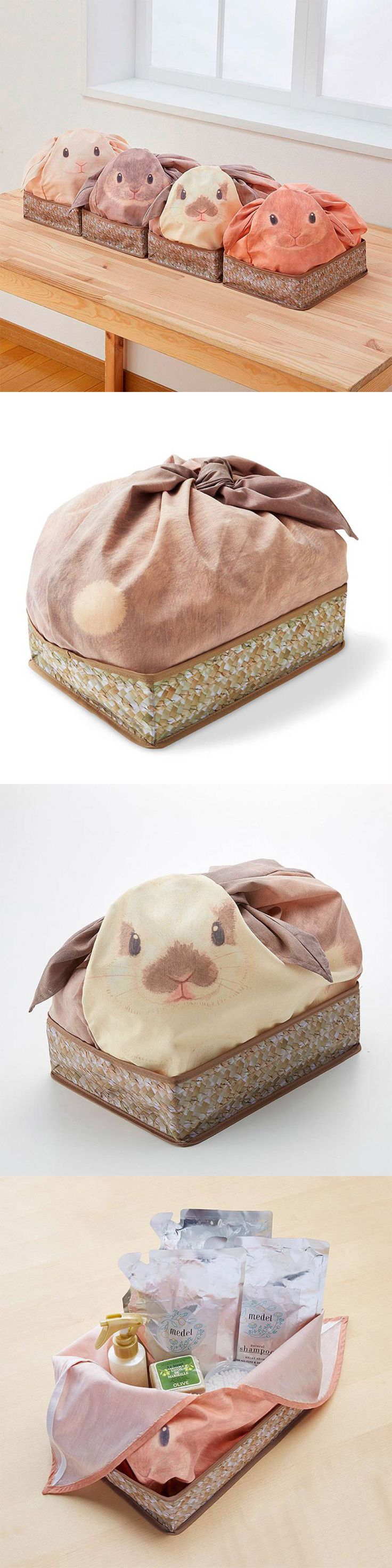 YOU+MORE! by Felissimo / Cute Rabbit Bag to Hide Household Stuffs #design #packaging