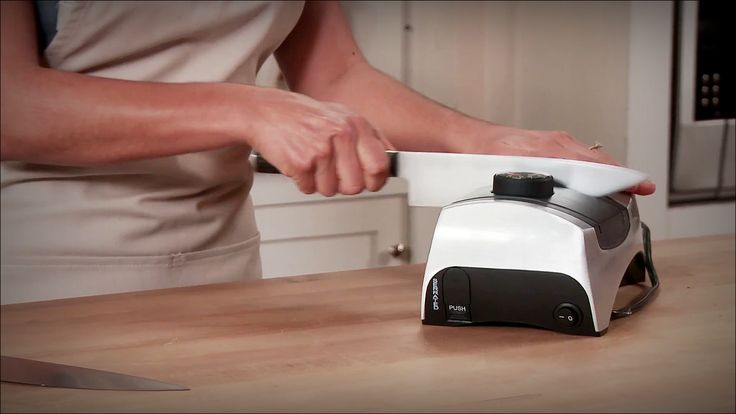 KitchenIQ 50353 Angle Adjust Adjustable Electric Knife Sharpener for kitchen knives. It gives right honing point to match that made initially by the blade producer. It hones both sides of the blade in the meantime without harming the blade. It is quick and proficient.