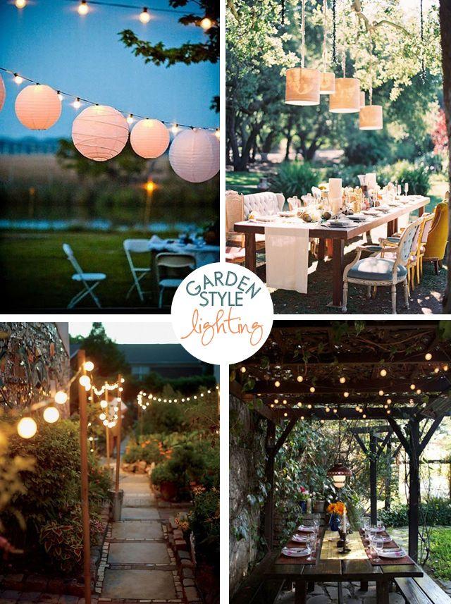 Garden Style Lighting. I'm doing this!! So romantic.