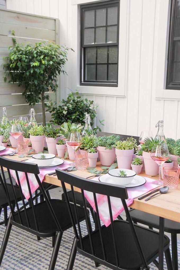 DIY PARTY | Succulent Centerpiece + Berry Champagne Popsicles ...