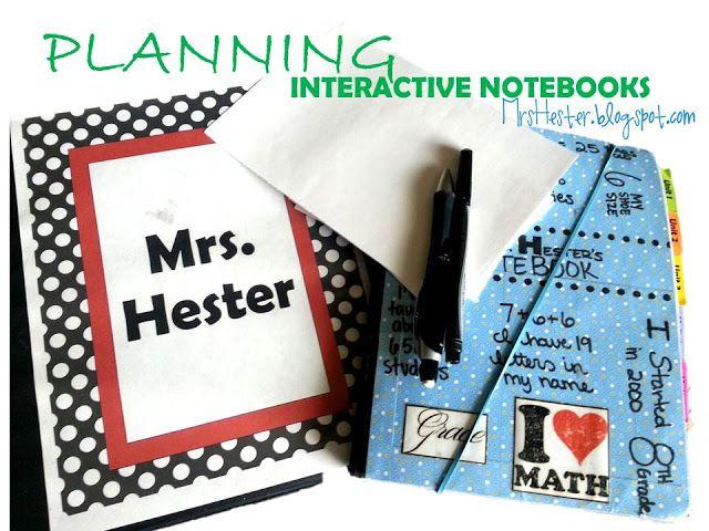 Planning Interactive Notebooks