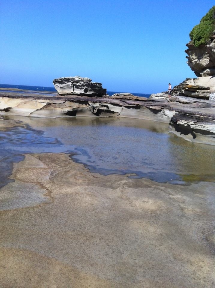 Terrigal Beach rock formations, NSW, Australia. (Own Photo)