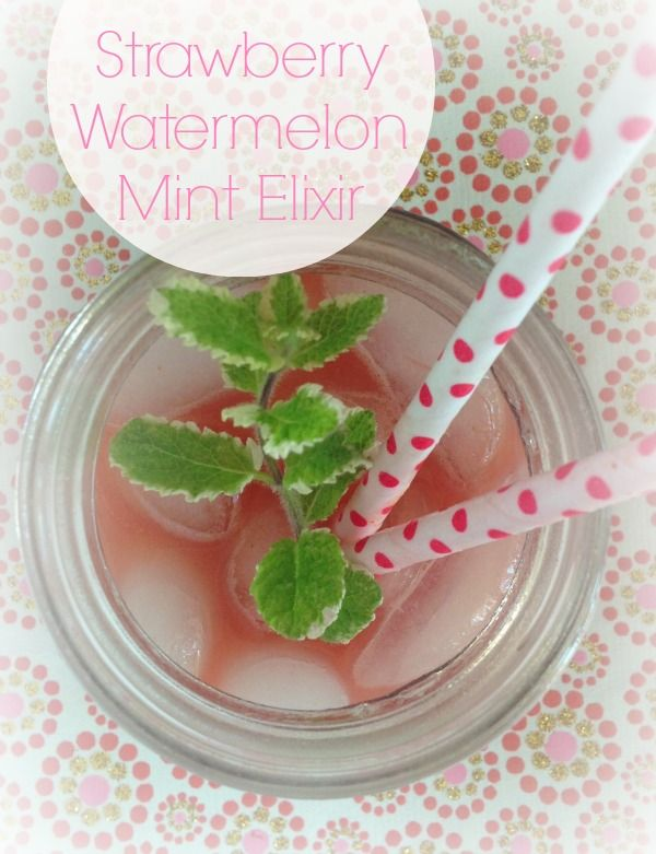Strawberry Watermelon Mint Elixir {Juice} //  The Spicy RD ~ Easy to make, super nutritious, and delicious too!