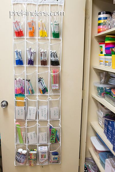 art storage for the classroom. This looks like a great idea for pens and stationery bits.