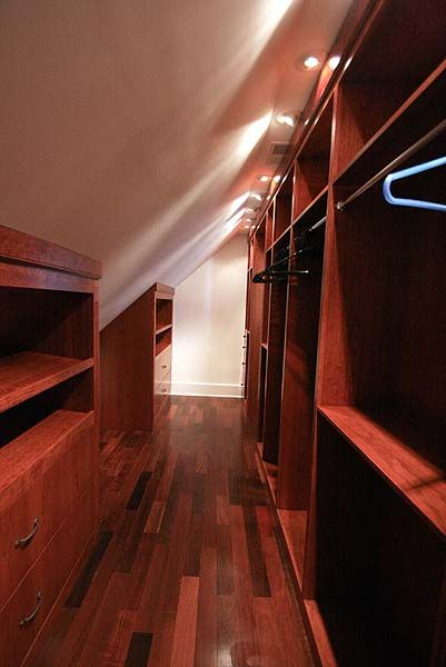 I wonder if kevin could do this in the space behind the wall.... hummm... Custom Closet in our cedar closet Could do in attic btwn dormers