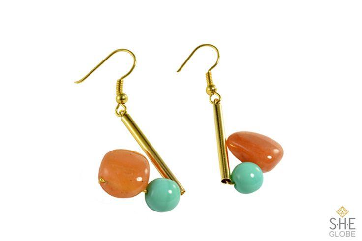 Naya Earrings | Shop the collection online. Sheglobe.com  #earring #bracelet #style #semiprecious #gemstones #gemstonejewelry #pearls #artisan #handmadejewelry #modern #classy #torontodesigner #design #designer  #fashionista #torontomade #madeintoronto #yyz #torontoevents #to #torontofashion #jewelrydesign #jewelrydesigner #handcrafted #handcraftedjewelry   #style #sheglobe #style #classic