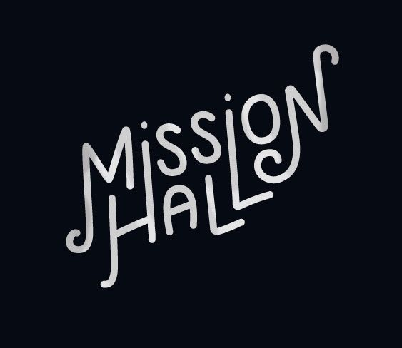 Mission Hall hand drawn custom graphic