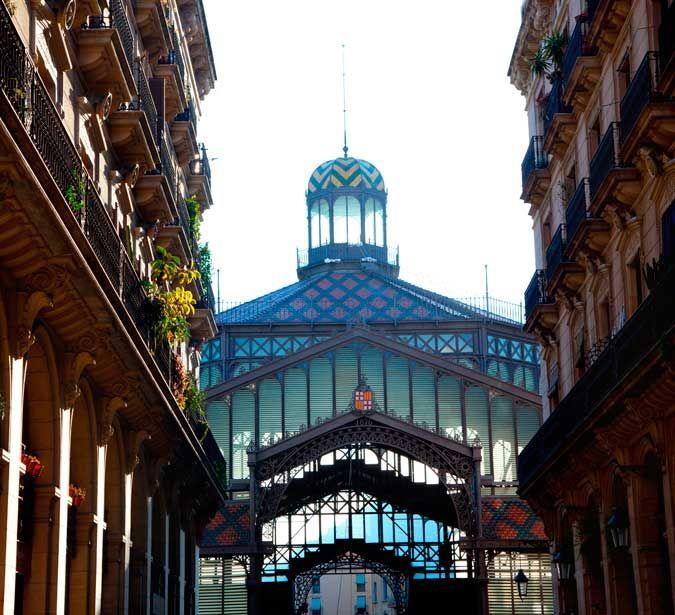 Mercat del Born / Mercado del Borne. Mercado municipal situado en el barrio de la Ribera en Barcelona.