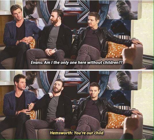 He will adopt all the cast as Hemsworths.