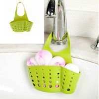 Wish | Tool Bathroom Kitchen Hanging Bags Storage  Box Plastic Sink Drain Baskets
