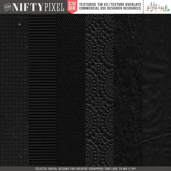 CU TEXTURES | Texturise 'Em Vol.3 This pack of 12X12 overlays will add some lovely textures to your projects.   DOWNLOAD INCLUDES:  6X Mixed materials found around the house. All products are saved at 300ppi for optimum printing quality.
