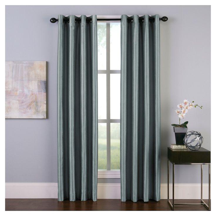Curtainworks Malta Room Darkening Curtain Panel Teal Blue 108