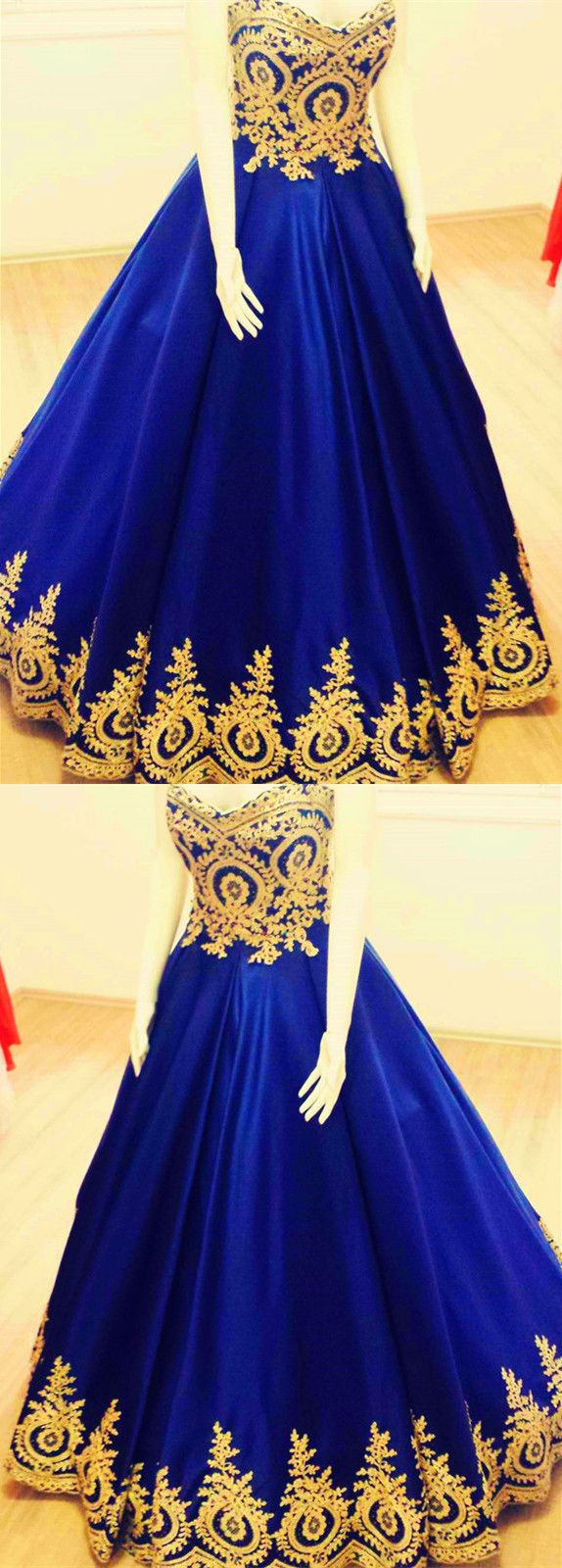 Royal Blue Quinceanera Dresses Sweet 16 Dress Gold Lace Appliques Ball Gowns Ball Gown Prom Dresses Sweet 16 Dresses Blue Wedding Dress Royal Ball Gowns [ 1600 x 574 Pixel ]