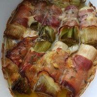 Prei rolletjes met ham en kaas : Recepten van Domy