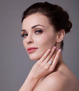 JewelryPalace 1.92ct Magnifique Bagues de Fiançailles Femme Infini Alliance Mariage Anniversaire Amour 2 Anneaux Ensemble en Argent…