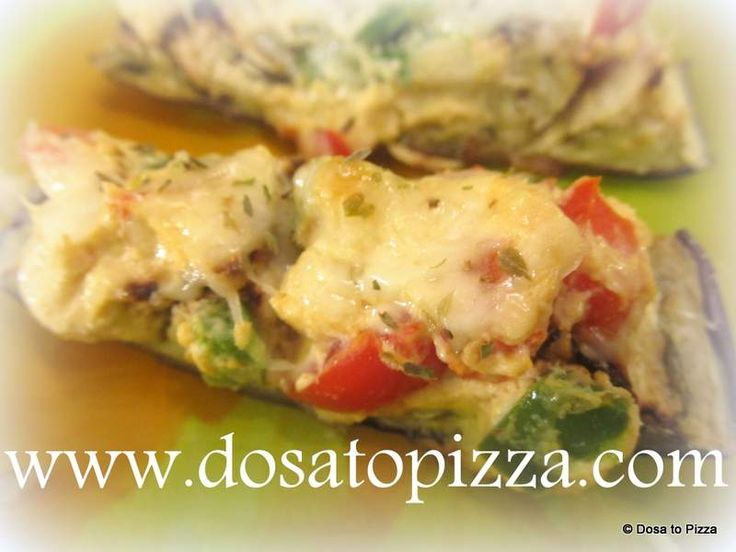 Brinjal cheese toast is a starter. This is an easy cheese recipe made from brinjals, capsicum and cheese baked in an oven.