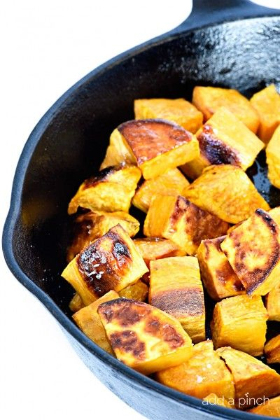 Skillet Roasted Sweet Potatoes Recipe • Cooking | Add a Pinch