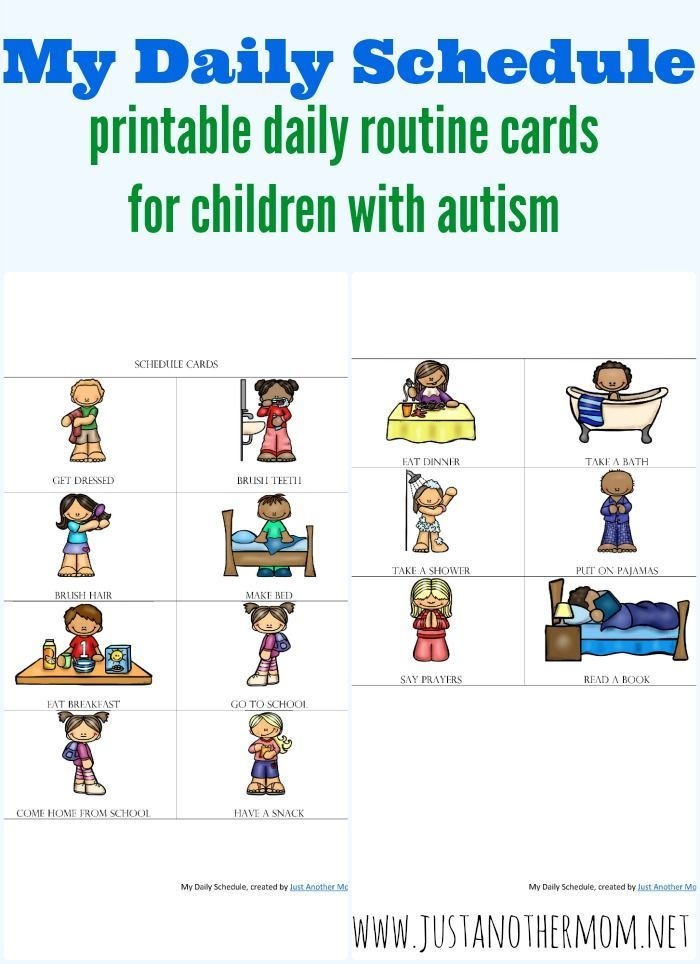 top 29 ideas about autism routines on pinterest each