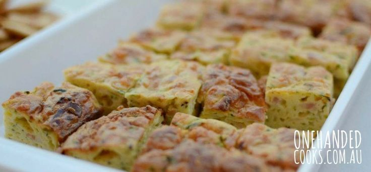 Zucchini Slice - One Handed Cooks