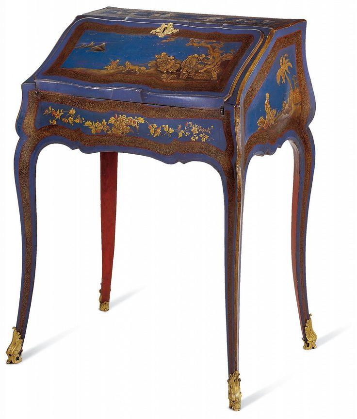 Attribué à DELORME - Secrétaire en pente - Vers 1749-1750 - Vernis Martin - Arts Décoratifs (LOUIS XV)