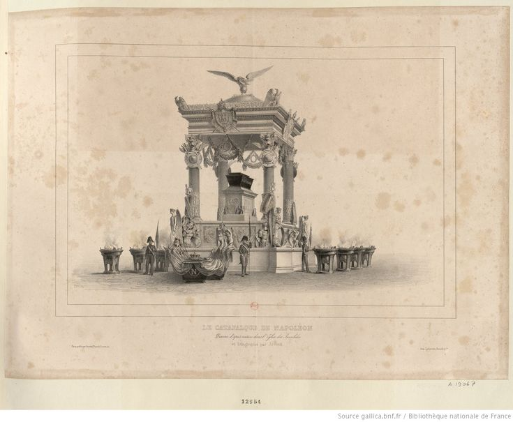 Le Catafalque de Napoléon : [estampe]