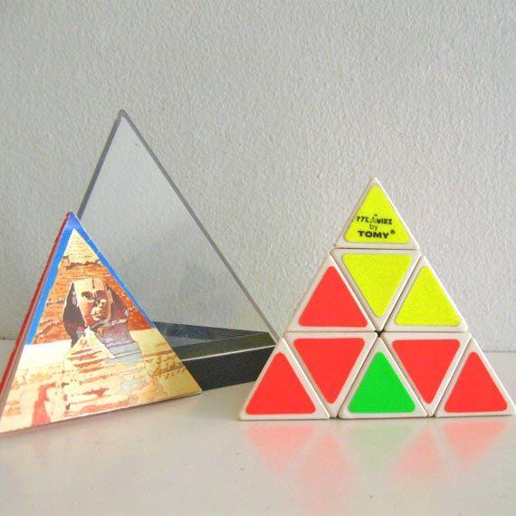 Vintage Pyramid Puzzle Pyraminx