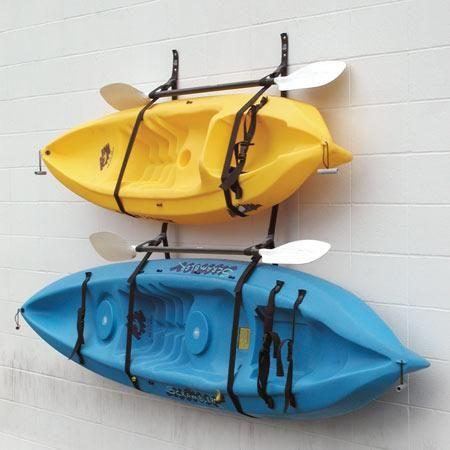 kayak hanging racks | Kayak Storage, Kayak Storage Rack, Garage Storage, Kayak Hangers, #KayakStorage
