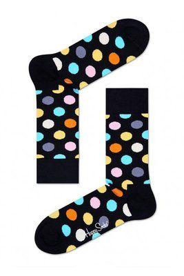 Happy Socks Big Dot Socks in Black/Multi for Unisex