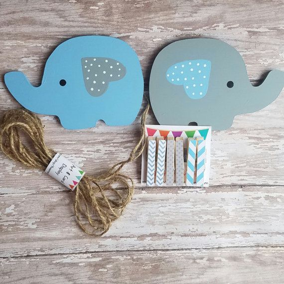 Elephant Child's Art Display Hanger Zoo by TheSensoryEmporium