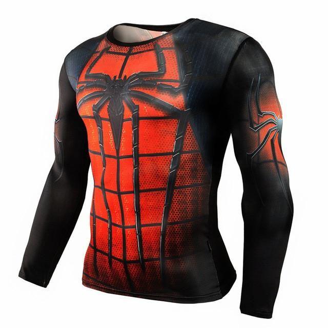 2017 T shirt Compression Shirt Crossfit T-shirt Men Lycra 3D Print Long Sleeve T shirt Fitness Brand Clothing MMA Plus Size