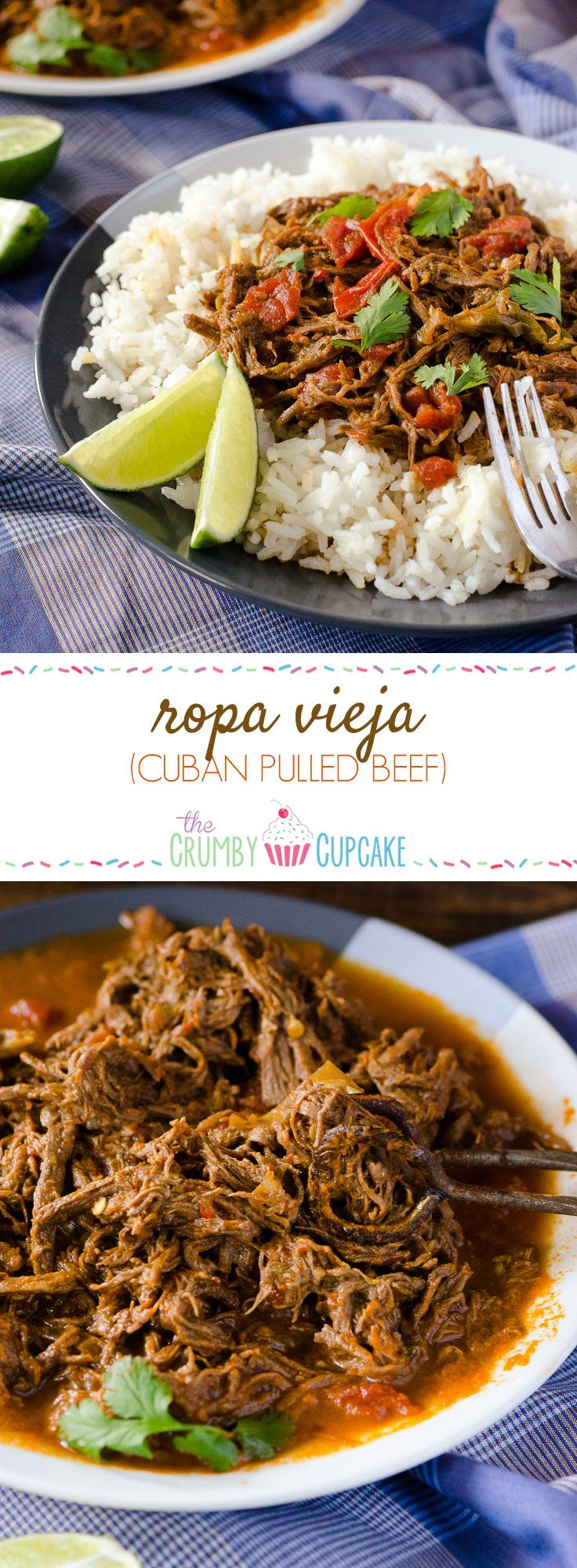 Spanish for 'old clothes' thanks to its shredded appearance, this flavorful Cuban dish is made with lean beef and makes for a healthy Sunday Supper. #SundaySupper @beeffordinner